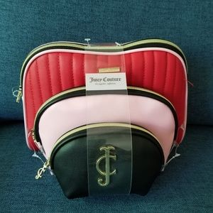 Juicy Couture cosmetic bag set
